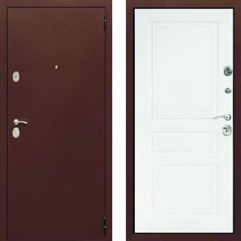 Входная металлическая дверь белая с внутренней стороны СТОП Альт Белая матовая
