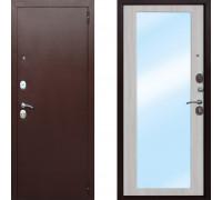 Входная железная дверь СТОП Царское зеркало Макси Белый Ясень