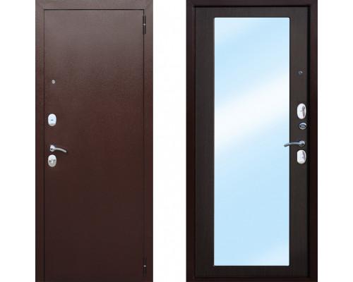 Входная стальная дверь СТОП Царское зеркало Макси Венге с зеркалом