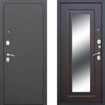 Входная дверь СТОП муар Зеркало Венге с зеркалом