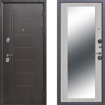 Входная стальная дверь Троя с зеркалом Макси Дуб Сонома