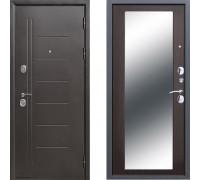Входная стальная дверь Троя с зеркалом Макси Венге