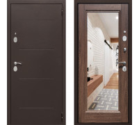 Входная железная дверь СТОП Альт зеркало Дуб Филадельфия с зеркалом