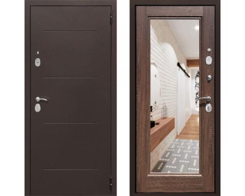 Входная железная дверь СТОП Альт зеркало Дуб Филадельфия