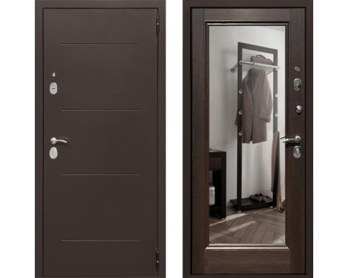 Входная зеркальная дверь СТОП Альт зеркало Венге
