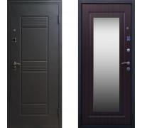 Дверь входная СТОП Стандарт с зеркалом Венге