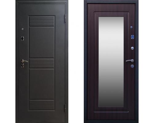 Дверь входная СТОП Стандарт с зеркалом Венге с зеркалом