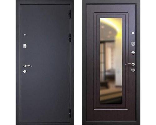 Недорогая входная металлическая дверь Art-lock 1 Венге с зеркалом
