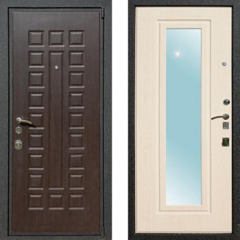 Входная металлическая дверь Art-Lock 4АЗ Беленый Дуб с зеркалом