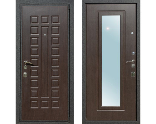 Входная металлическая дверь Art-Lock 4АЗ Венге с зеркалом