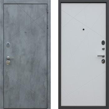 Входная металлическая дверь АСД Дуэт Б Белый Матовый