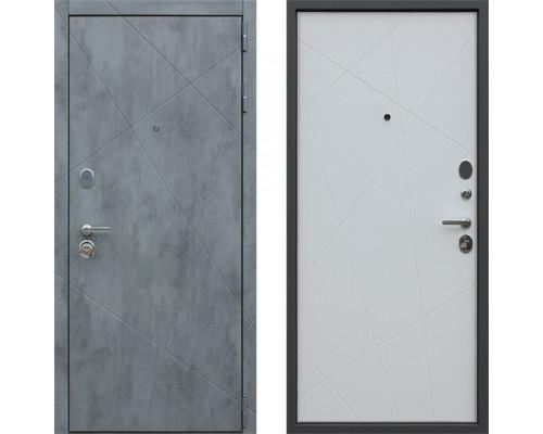 Дверь входная металлическая дверь АСД Дуэт Б Белый Мытовый