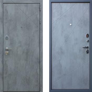 Дверь входная в квартиру АСД Дуэт Б Бетон Светлый (входные двери в квартиру)