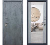 Дверь входная с зеркалом АСД Дуэт Б с зеркалом (двери АСД с зеркалом)