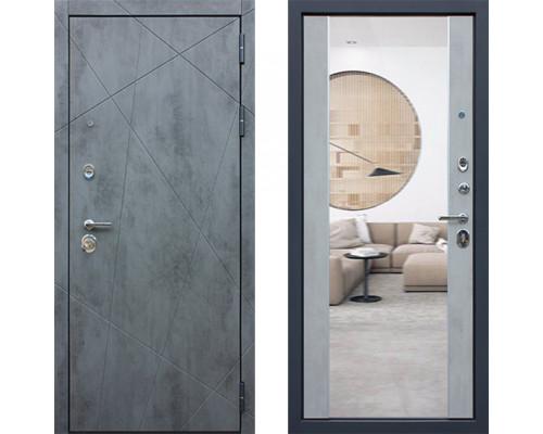 Дверь входная с зеркалом АСД Дуэт Б с зеркалом хорошая (входные двери с зеркалом)