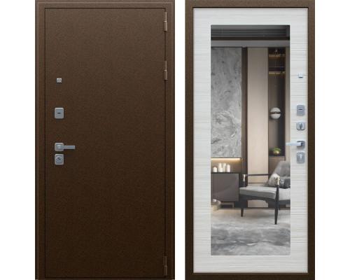Дверь входная зеркальная АСД Спартак с зеркалом