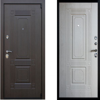 Металлическая дверь АСД Викинг Беленый Дуб