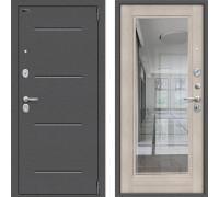 Входная дверь Браво Оптим Флеш с зеркалом Капучино