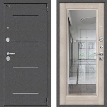 Входная дверь с зеркалом Браво Оптим Флеш с зеркалом Капучино (входные двери в квартиру с зеркалом)