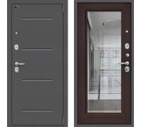 Входная дверь Браво Оптим Флеш с зеркалом Венге с зеркалом