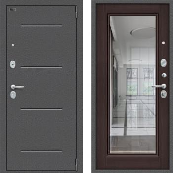 Входная металлическая дверь Браво Оптим Флеш с зеркалом Венге