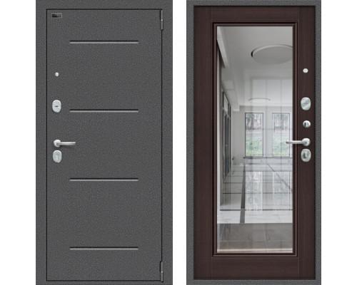 Входная дверь Браво Porta S 104/П61 (Флеш) с зеркалом Венге