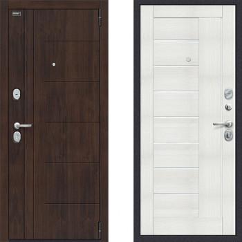Дверь входная металлическая Браво Оптим Модерн Бьянка Вералинга