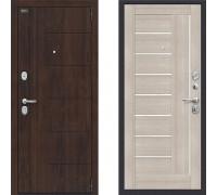 Дверь шумоизоляционная входная в квартиру Браво Оптим Модерн Капучино с хорошей шумоизоляцией 880*2050 правая