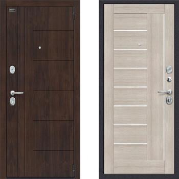 Дверь шумоизоляционная входная в квартиру Браво Оптим Модерн Капучино с хорошей шумоизоляцией