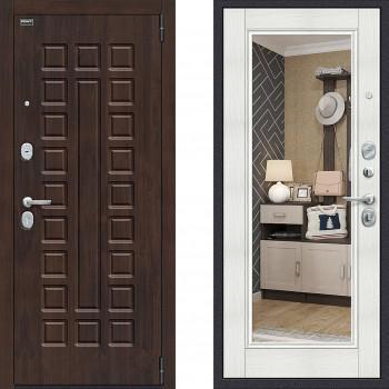 Входная дверь в квартиру с зеркалом Браво Урбан с зеркалом в квартиру Бьянка Вералинга (входные двери в квартиру)