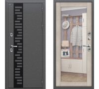 Входная дверь Браво Термо 220 с зеркалом Капучино