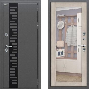 Входная металлическая дверь с терморазрывом Браво Термо 220 с зеркалом Капучино
