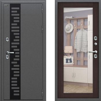 Входная металлическая дверь Браво Термо 220 с зеркалом Венге