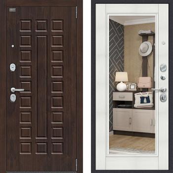 Входная металлическая дверь с зеркалом Bravo Оптим Урбан зеркало Бьянка Вералинга
