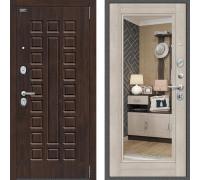 Входная дверь Браво Оптим Урбан с зеркалом Капучино с зеркалом