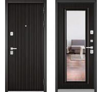 Металлическая дверь Бульдорс Премиум с зеркалом Ларче Темный Ларче Темный