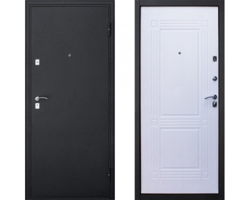 Дверь входная в квартиру Йошкар Ампир белый ясень (входные двери в квартиру)