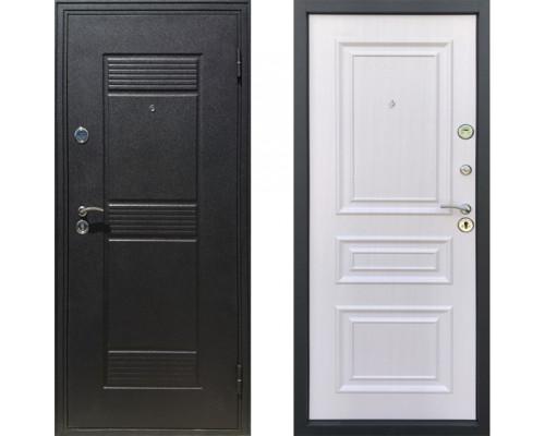 Входная металлическая дверь в квартиру Йошкар Неаполь белый ясень в квартиру (белая дверь для квартиры)