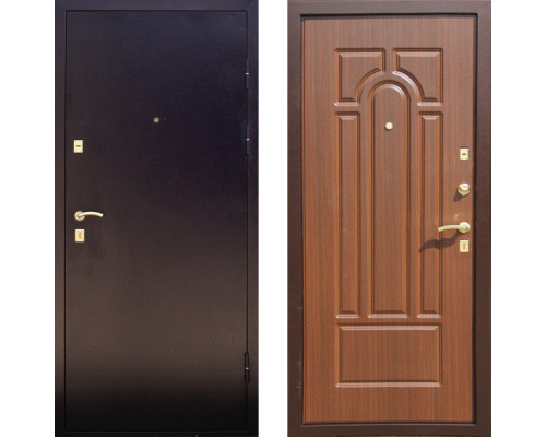 Металлическая дверь Дива МД-09 (Орех)