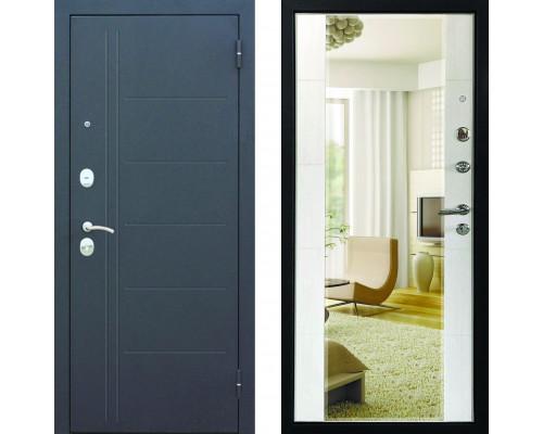 Входная зеркальная дверь с зеркалом Йошкар Царское зеркало (входные двери с зеркалом)