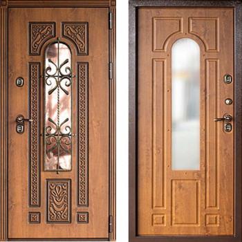 Уличная дверь с терморазрывом Дверной Континент Лацио Термо Золтистый Дуб