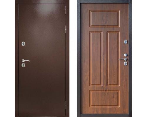 Входная уличная дверь с терморазрывом Дверной Континент Термаль Сибирь Грецкий Орех