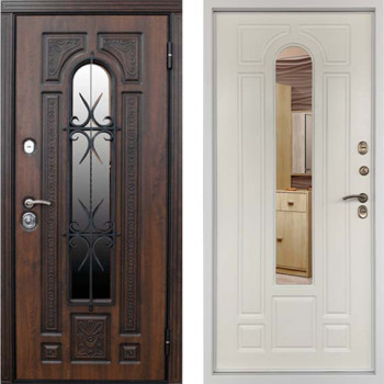 Уличная дверь с терморазрывом Дверной Континент Лацио Термо Белая Матовая
