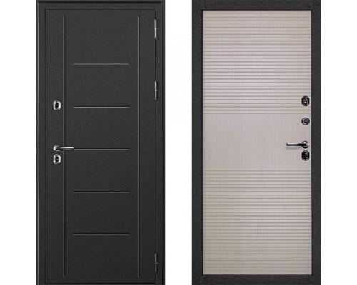 Двери с терморазрывом Морозостойкая входная дверь с терморазрывом Дверной Континент Термаль Беленый Дуб с терморазрывом