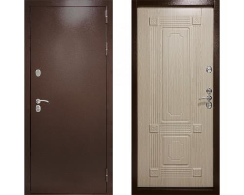 Морозостойкая входная дверь с терморазрывом Дверной Континент Термаль Ультра Беленый Дуб (уличные двери с терморазрывом)