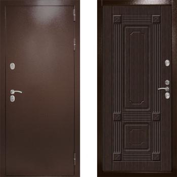 Входная уличная дверь с терморазрывом Дверной Континент Термаль Ультра Венге