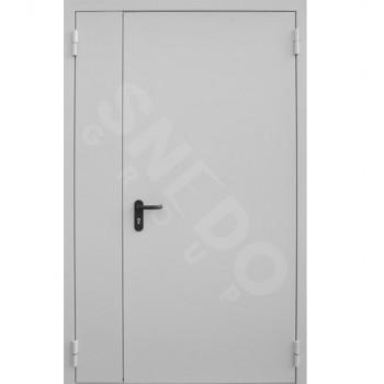 Металлическая противопожарная двухстворчатая дверь