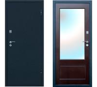 Входная дверь с зеркалом Форпост Рубеж 4