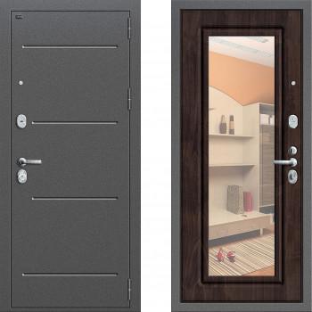 Металлическая дверь Грофф Р2-206 с зеркалом Темная Вишня