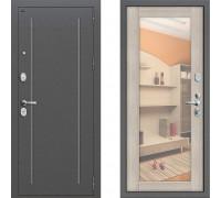 Металлическая дверь Грофф Т2-220 с зеркалом Капучно
